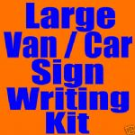 VAN / CAR GRAPHICS LARGE SIGN WRITING KIT VINYL L@@K